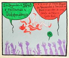 História de Lisboa de Nuno Saraiva - Rua Norberto de Araújo - 1640 (Markus Lüske) Tags: portugal lisbon lisboa lissabon kunst art arte wandmalerei mural muralha graffiti graffito street streetart urbanart urban nuno saraiva nunosaraiva historia history história geschichte lueske lüske