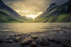 The Valley (andreassofus) Tags: norway fjord fjords norwegianfjord mountains mountainscape nature landscape grandlandscape rocks water sky clouds travel travelphotography outdoor hike hiking summer summertime canon manffrotto