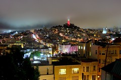 Independence Day Under The Fog (martinlrosen) Tags: independenceday fourthofjuly sanfrancisco california coittower fog