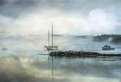 Happy July! (jm atkinson) Tags: purple slidersunday sailboatonpemaquidharbor maine fog lobsterboats atlantic johns bay jai johnson kerstinfrank