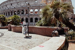 The Last Gladiator (Thomas Listl) Tags: thomaslistl color rom roma rome street urban colosseo kolosseum architecture building antique monument monumental sleep rest palmtree garbage city 35mm