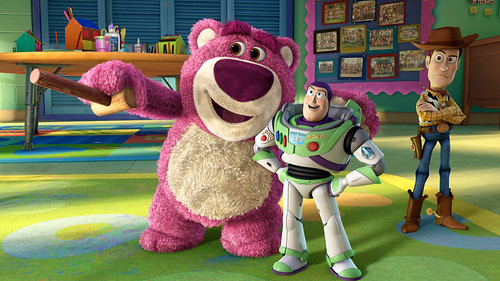 "Lotso, Buzz and Woody in ""Toy Story 3"""