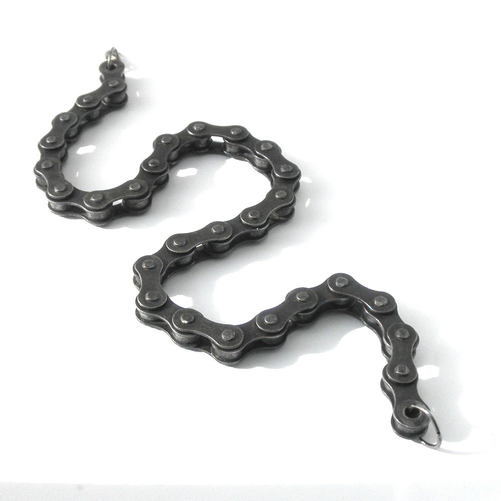 14 1/2 link bicycle chain choker and bracelet