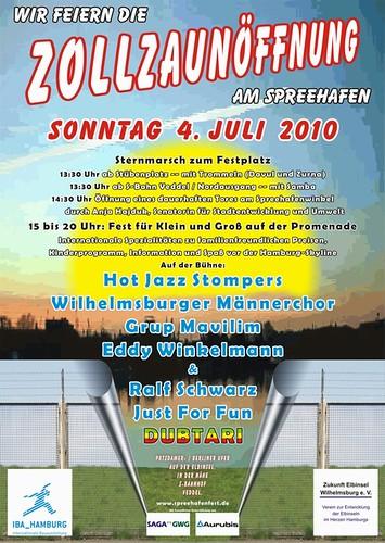 Hamburg Veddel, Wilhelmsburg: Ab 4.Juli 2010 Spreehafen geöffnet - Großes Fest