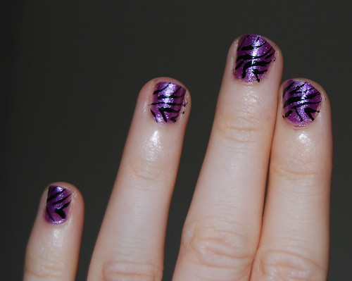 zebra nails detail