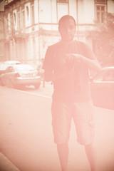 pinkish (ion-bogdan dumitrescu) Tags: pink portrait selfportrait self romania bucharest plexiglass bitzi ibdp redglasswall mg3170edit1 ibdpro wwwibdpro ionbogdandumitrescuphotography