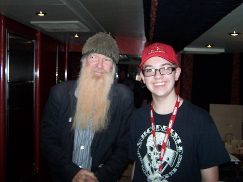 Hawkspawn & Billy Gibbons on the tour bus