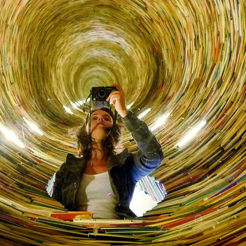 Self Portrait with Books {repost}