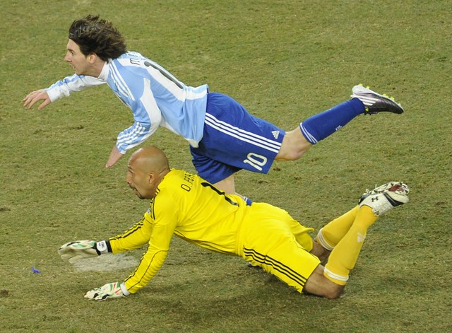 Mundial Sudáfrica Oscar Perez Lionel Messi