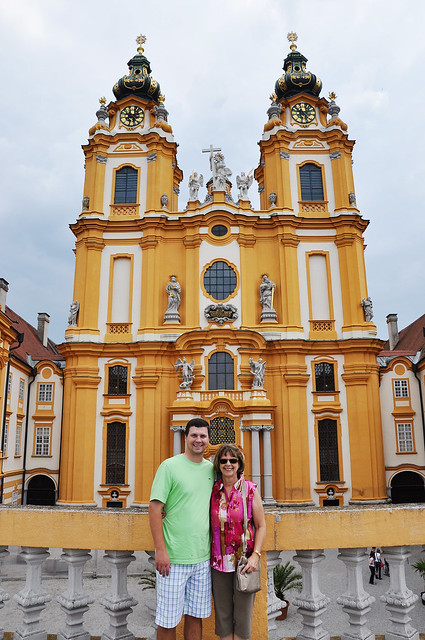 in front of melk abbey