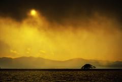 Looming Darkness... * (HarQ Photography) Tags: japan shiga lakebiwa supershot mywinners sunsetmania saariysqualitypictures magicunicornverybest magicunicornmasterpiece elitegalleryaoi ayrphotoscontestlandscape