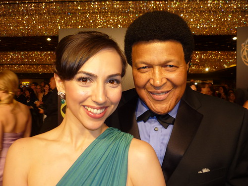 Eden Riegel and Chubby Checker at Emmys by you.