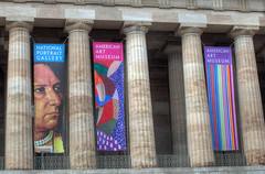 Reynolds Center Columns in HDR (Mr. T in DC) Tags: architecture buildings washingtondc smithsonian dc columns facades dcist galleryplace banners museums npg doric nationalportraitgallery pennquarter artmuseums fstreet saam portraitgallery doriccolumns colonnades fstreetnw smithsonianamericanartmuseum reynoldscenter donaldreynoldscenter