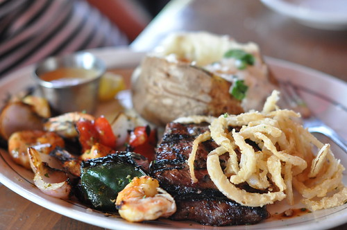 Steak & Shrimp Plate at Salt Gras Steak House