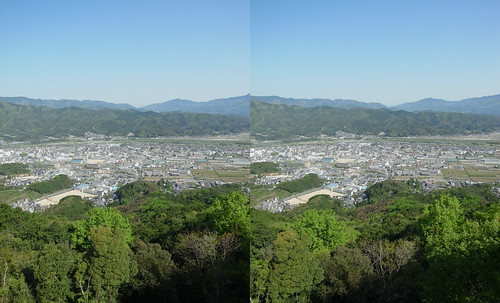Ozu city, 3D parallel view
