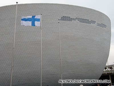 Exterior of the Finnish pavilion