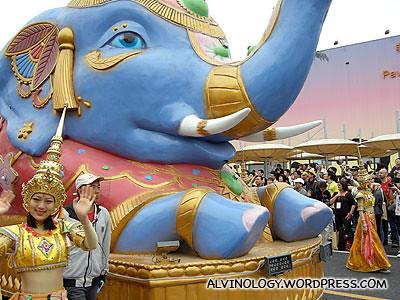 Blue elephant cart