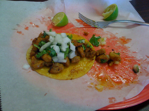 Spicy Pork taco from Tacos Borolas