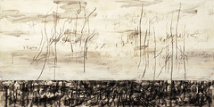 No Place to Land (nikolasburkhart) Tags: painting acrylic drawing contemporary charcoal abstraction graphite acrylicpainting linear automatism nikburkhart nikolasburkhart psalms72 psalms75 davidoati