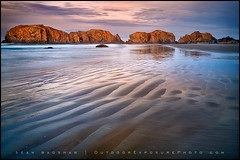 Sands of Time (Sean Bagshaw) Tags: ocean beach oregon forest sunrise dawn coast rocks pacific patterns tide rocky shore oregoncoast bandon cascaderange rockycoast photoresearchers