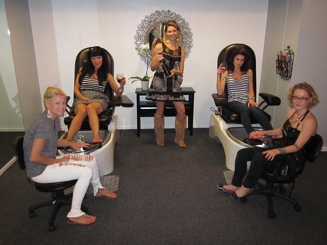 Camille Solari, Melanie Bradsky, Samantha Gutstadt,Aj's Wicked Salon and Spa, Rapid City, South Dakota