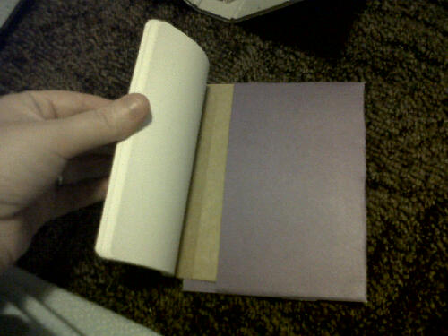 The binder pocket for my moleskine