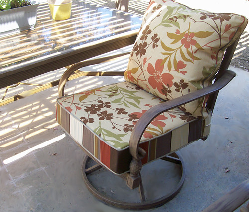 patio chari after, with seat cushion