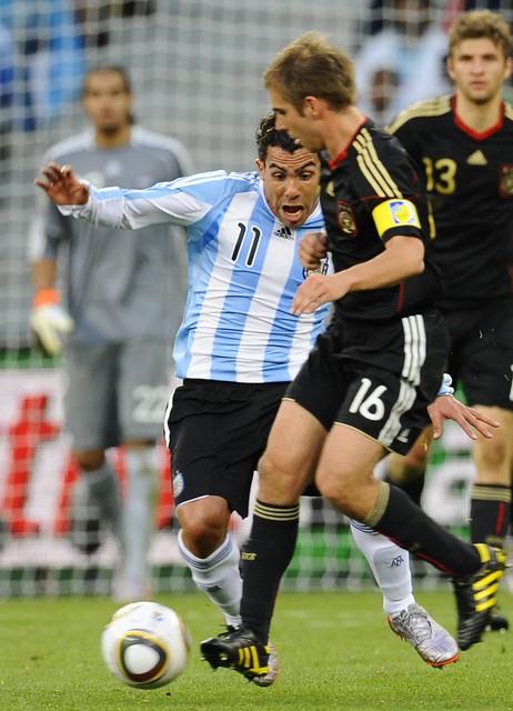 Mundial Argentina Alemania Carlos Tevez