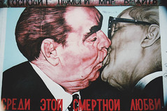 brezhnev / honecker (senseofdoubt) Tags: berlin nikon kiss gallery side east fujifilm interrail n60 honecker brezhnev