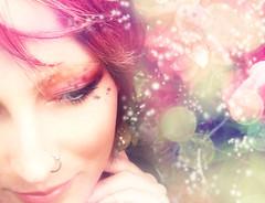 mariposa (leslie.june) Tags: pink flowers orchid fairytale greeneyes pinkhair selfie lesliejunephotography lesliejune