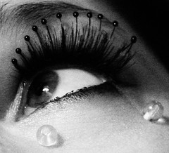 glass tears crop (::fotorosso::) Tags: blackandwhite bw eye me glass self square 50mm beads tears eyelashes copycat teardrop homage gaze manray glasstears