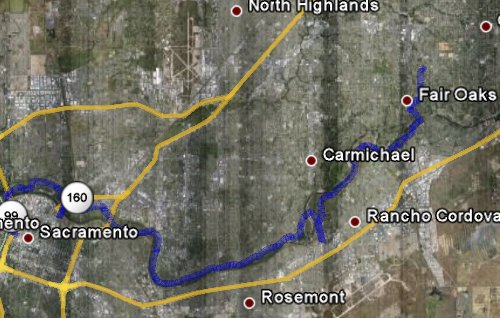 SAC to Fair Oaks Biking