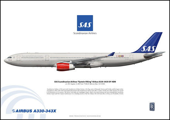 "SAS Scandinavian Airlines ""Eystein Viking"" Airbus A330-343X OY-KBN"