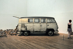 old uk travel camping urban london art vw artwork tate modernart grunge transport hippy tatemodern vehicle rusting van sled camper motorhome hdr beuys campervan josephbeuys thepack vwcamper