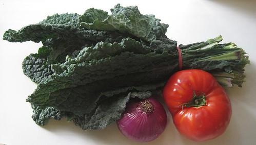 vegetables from the Santa Monica farmers market