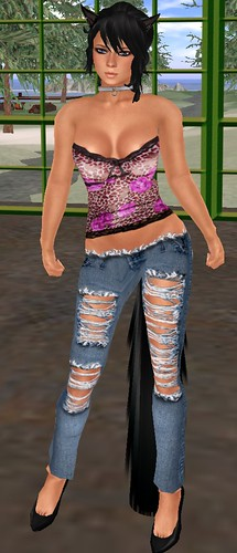 SD Weekend Deals Creative Muse Designs torn jeans and 55L Manic Monday Rawr top July5 2010