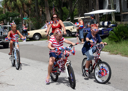 Riding in the Clamerica Parade