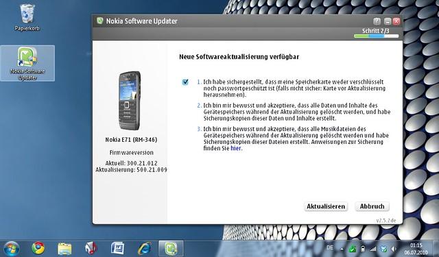 Neue Software für das E71