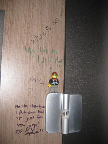 Toilet door lego man