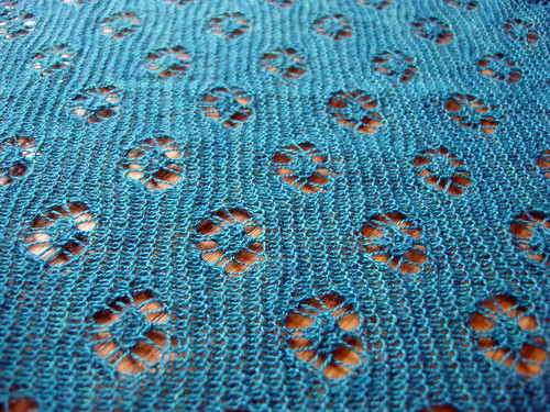 isolated motifs in a field of garter stitch!