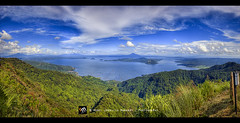 Tagaytay HDR Panorama ([ Rodelicious ]) Tags: trip travel vacation sky panorama beautiful beauty landscape geotagged volcano batangas tagaytay taal hdr highdynamicrange waterscape photomatix wowphilippines perfectescapes pinoykodakeros garbongbisaya gettyimagesphilippinesq1 gettyimagesasia gettyimagesphilippines