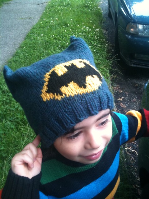 Batman Hat by Ann Donovan (FREE)
