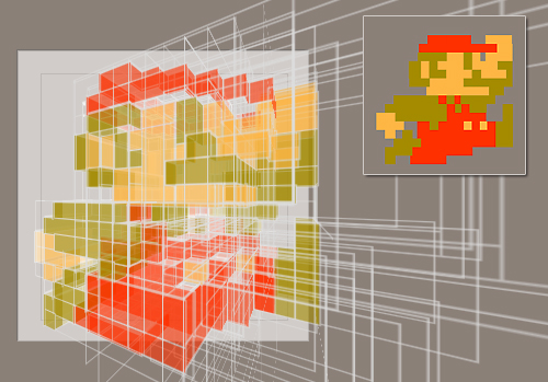 Pure CSS animated 3D Super Mario