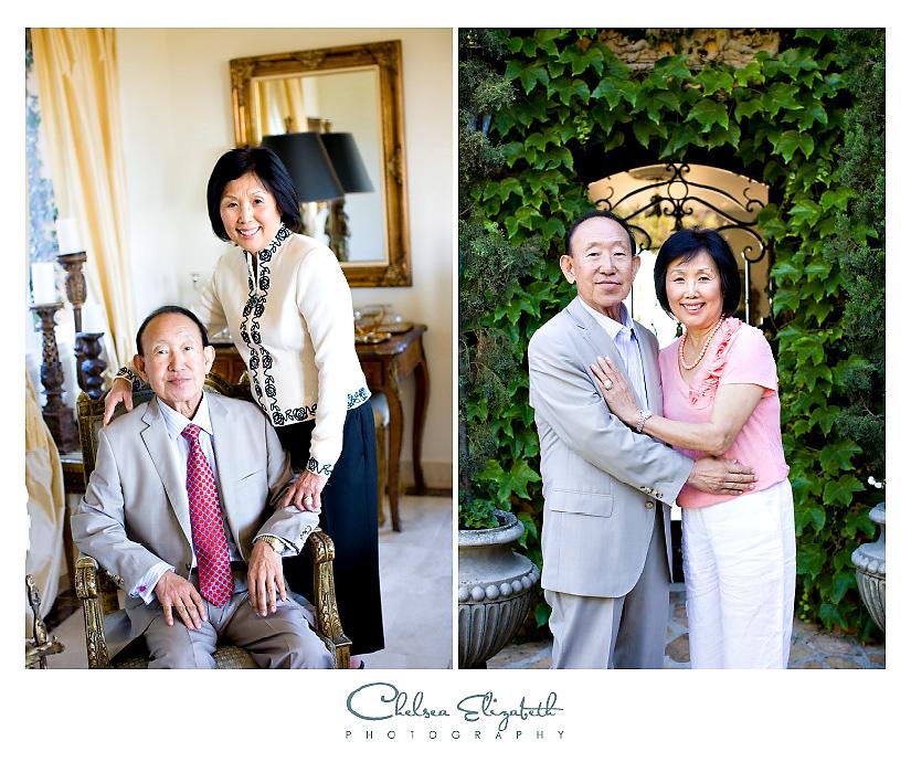 Grandma and Grandpa formal portrait picture