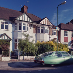 () Tags: auto road street uk houses colour london car landscape suburban citroen suburbia sigma neighbourhood banal kensalrise dp1 leighgardens