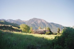 House (Inside_man) Tags: morning house mountain film 35mm ut mju olympus slc