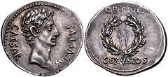 Augustus. 27 BC-AD 14. AR Denarius (21mm, 3.82 g, 6h). Uncertain mint in Spain (Colonia Patricia?). Struck circa 19 BC. (Joe Geranio) Tags: coin all coins courtesy iconography augustus romanart texts romancoins classicalart 1stcenturyad iconographie julioclaudian romanportrait firstcenturyad romannumismatics earlyromanempire cngcoinscom