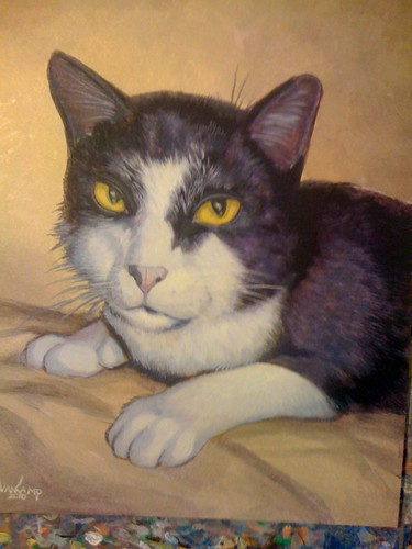 Henry the Cat Painting - 3