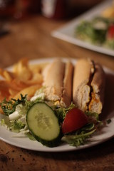 White Horse pub - coronation chicken sandwich