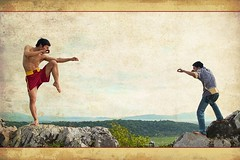 VietnamFight (T M) Tags: martialart battle kungfu wushu fighting pentaxkx sanshou mywinners